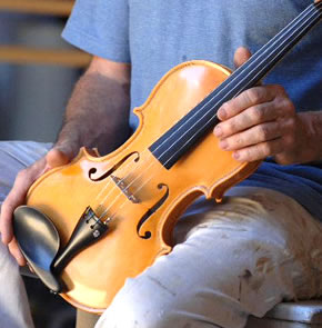 The making of a violin